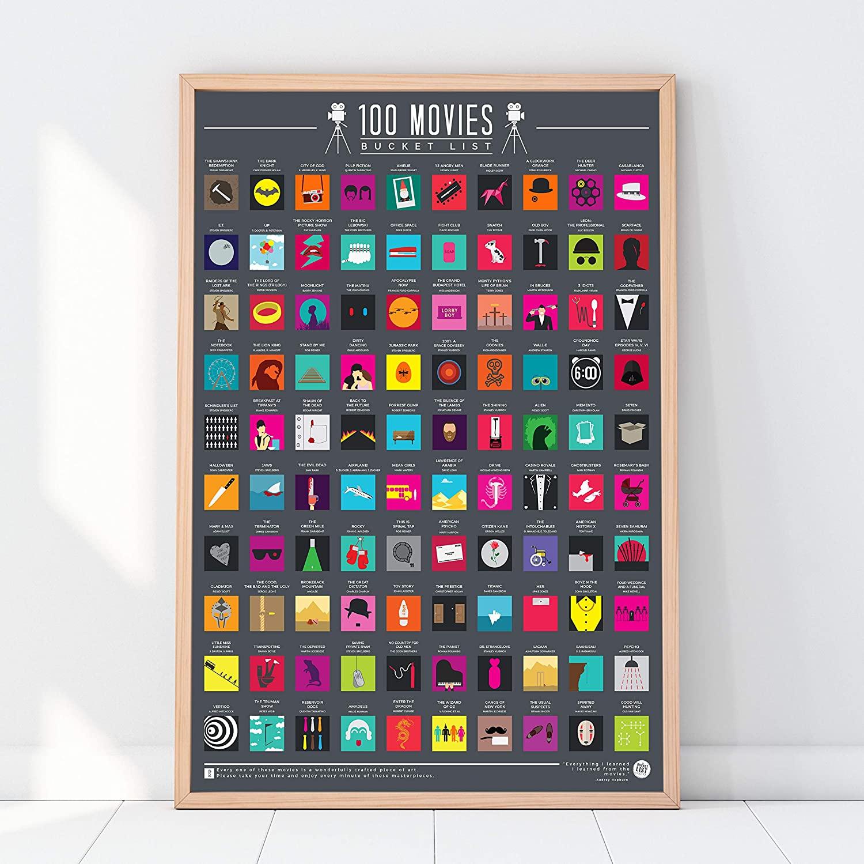 9. 100 Movies Bucket List Poster
