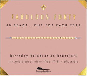 14K gold-dipped beads bracelet