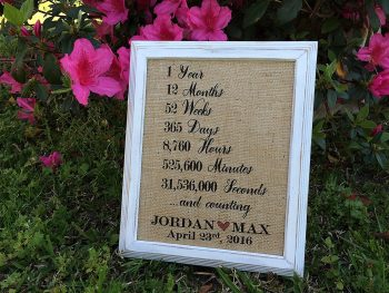 Personalized Love Quote Burlap