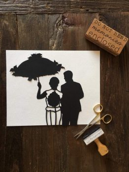 Wedding Silhouette Wall Art