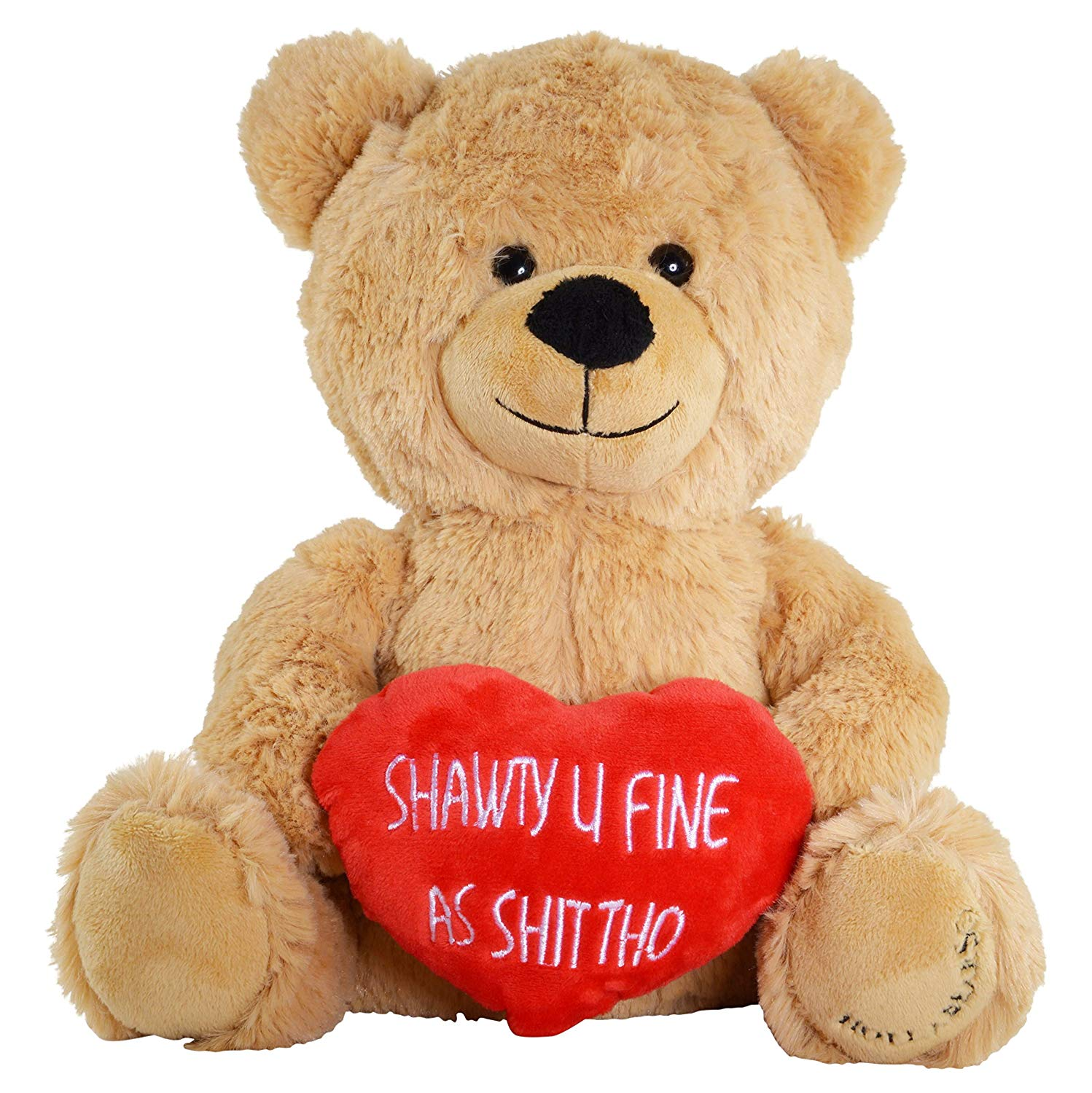 Hollabears Shawty U Fine Teddy Bear - Funny for Girlfriend, Boyfriend or Best Friends