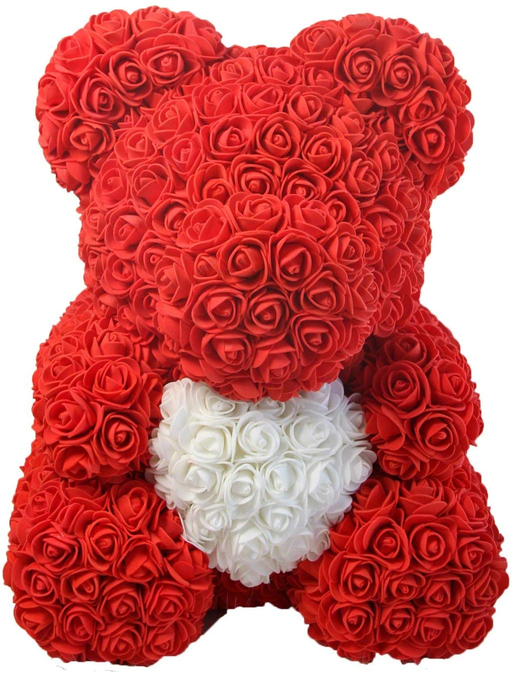 Rose Bear - Anniversary, Best, Perfect & Unique Gift Ideas for Lovers, Women, Men, Teen, Wife, Husband, Him, Her, Teen - 25cm