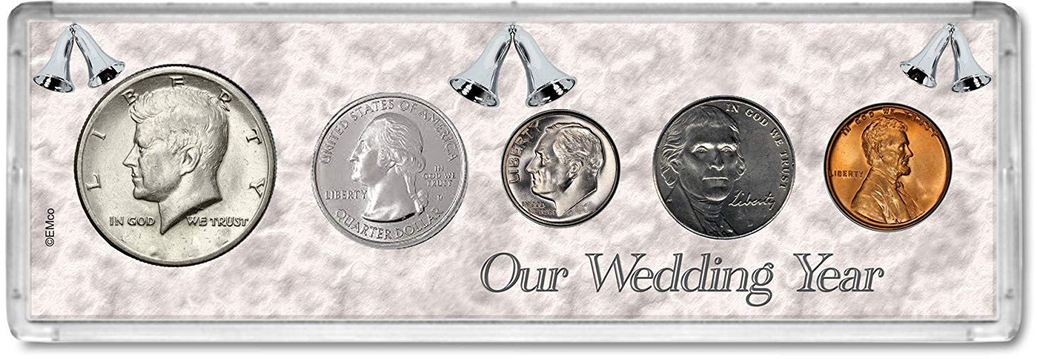 2015 Year Coin Set : 4th Anniversary Gift - Our Wedding Year