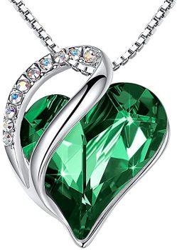 Infinity Love Heart Pendant Necklace