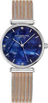 Pearl analogue women's watch