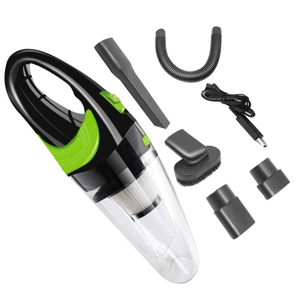 ADTZYLD Handheld Car Vacuum Cleaner Cordless USB Charger Wet Dry Strong Cyclone Suction Lightweight