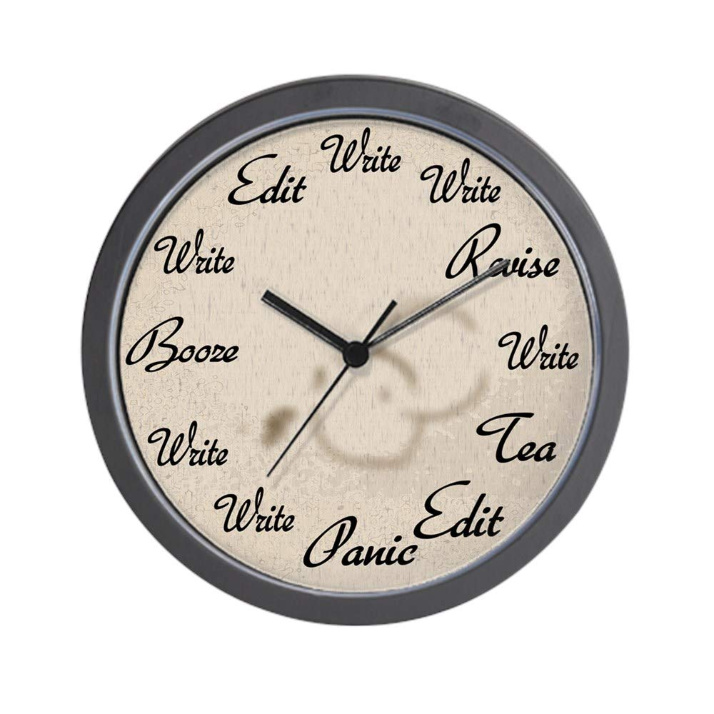 "CafePress Writer's Clock Unique Decorative 10"" Wall Clock"