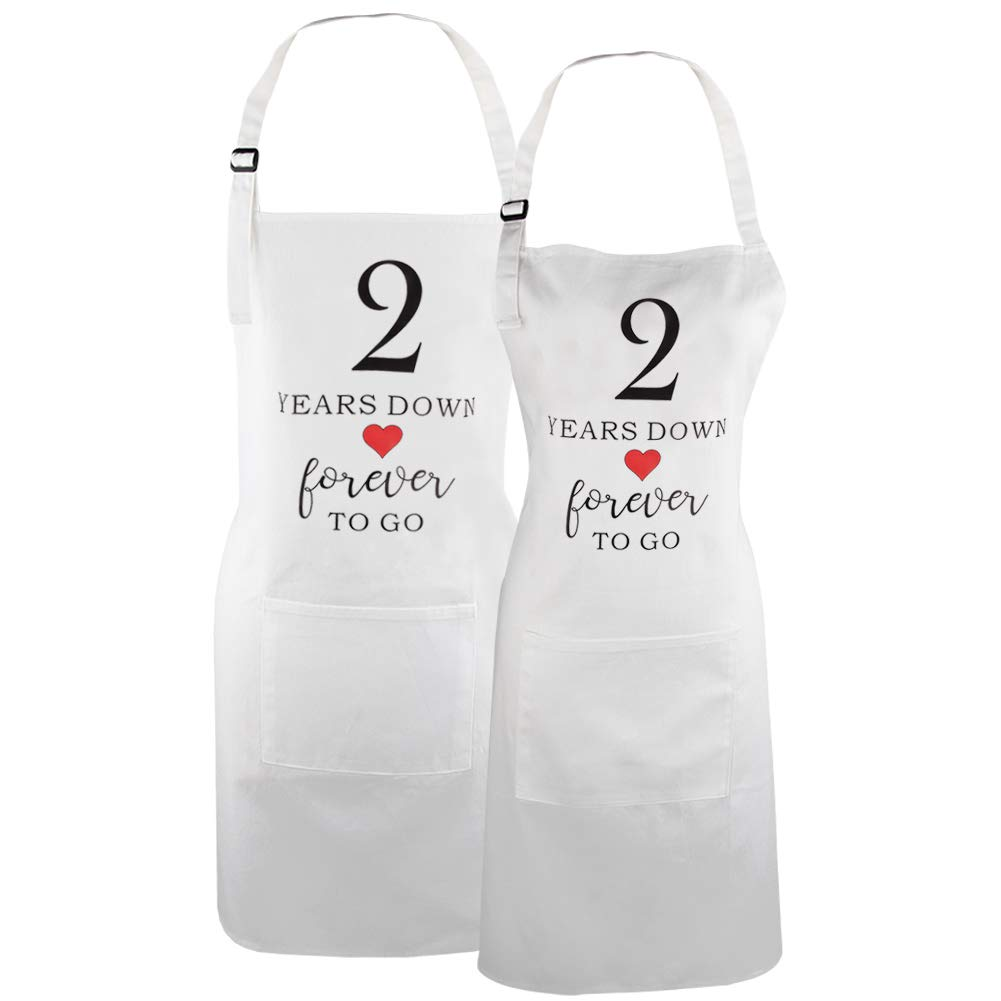 Couple Apron with Pocket, 2, 2nd Wedding for Couple