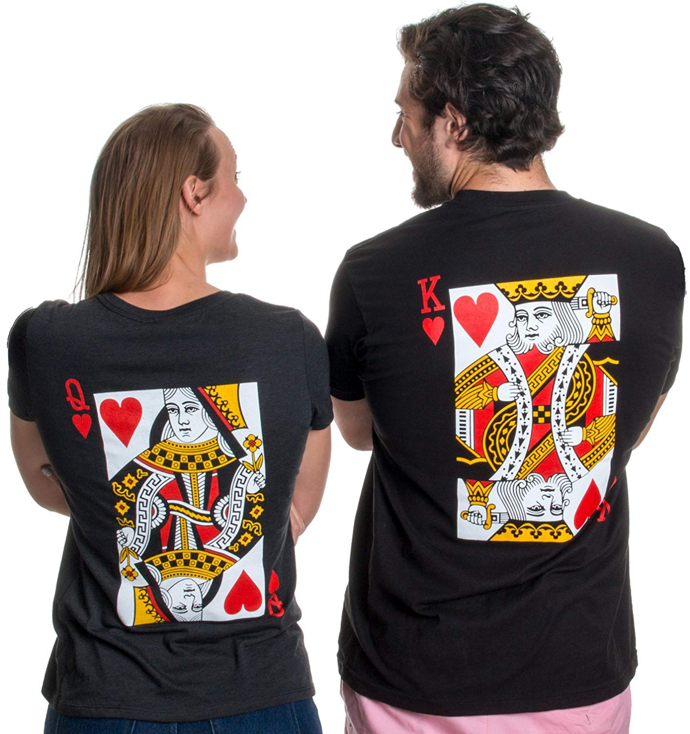 King/Queen   Matching Couples Husband Wife Bridal Wedding Newlywed T-Shirts