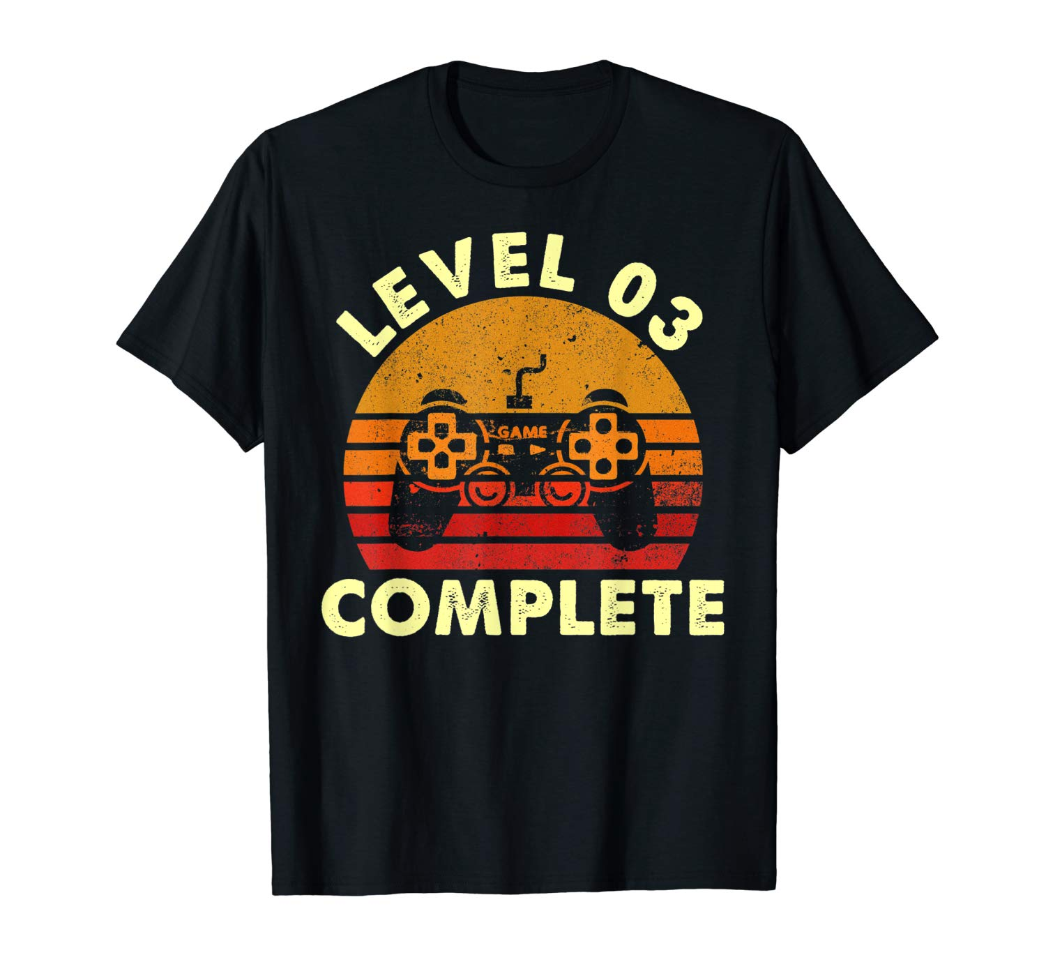 Level 3 Complete Vintage T-Shirt Celebrate 3rd Wedding