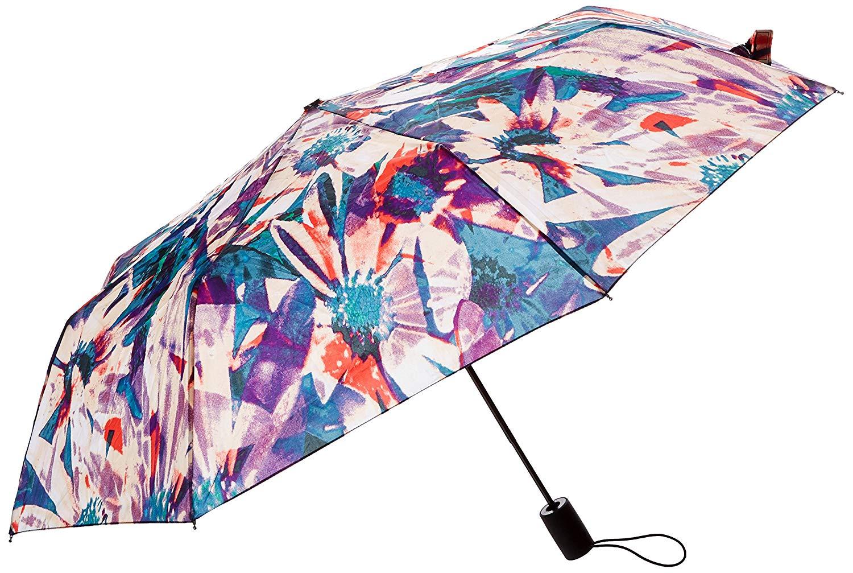Nicole Miller Automatic Super Mini Umbrella-850nm-trop, Print