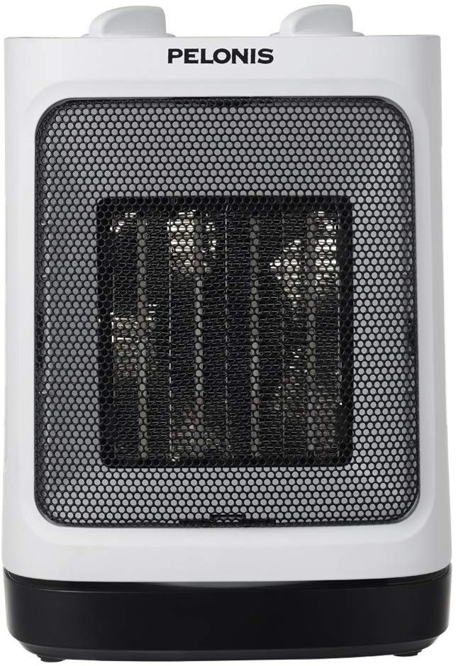 Pelonis Portable Ceramic Space Heater for Small Rooms with Oscillation & Adjustable Thermostat, Classic Style