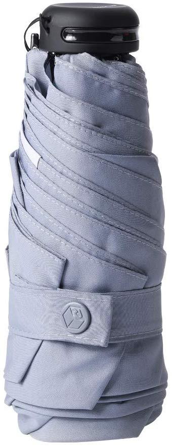 RUMBRELLA Mini Umbrella Gray, Teflon Purse Umbrella with 99% UV Protection