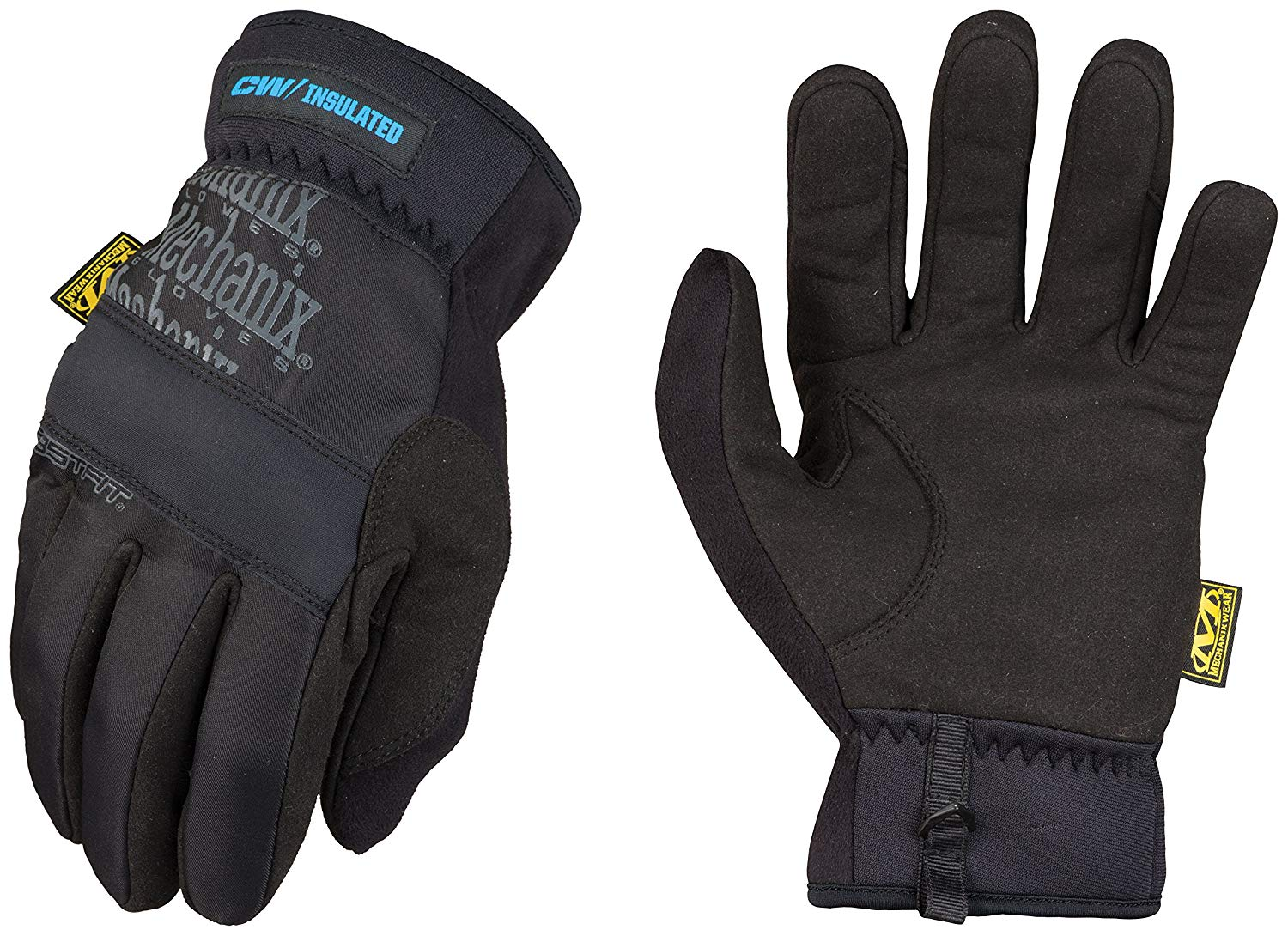 Winter Work Gloves for Men by Mechanix Wear: FastFit Insulated with 3M Thinsulate, Touchscreen (Large, Black/Grey)