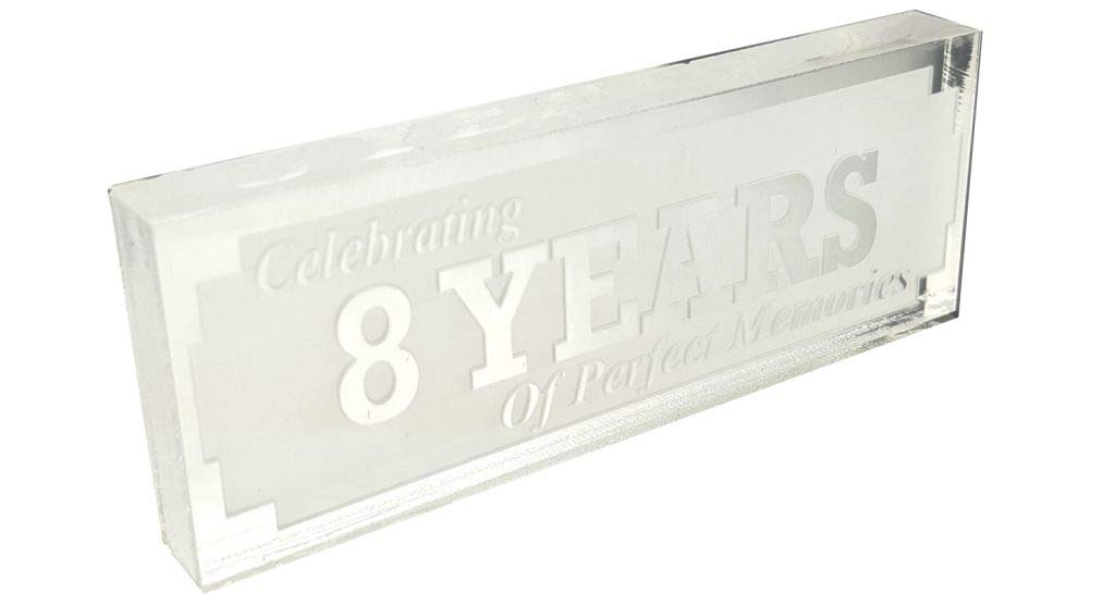 Acrylic 8th Anniversary Clear Ornament Engraved Gifts Celebrating 8 Years Perfect Memories