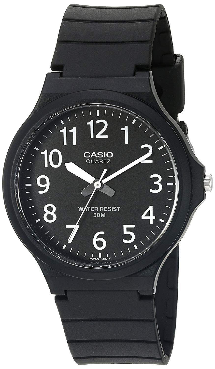 Casio Men's Classic Quartz Watch with Resin Strap, Black, 20.15 (Model: MW240-1BV)