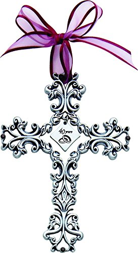 Cathedral Art 40 Year Anniversary Wall Cross, 5-Inch High