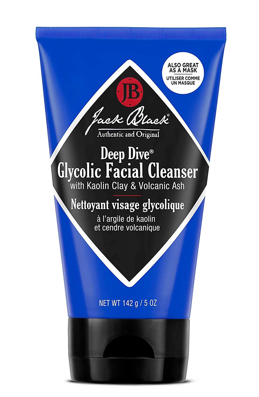 Jack Black Deep Dive Glycolic Facial Cleanser, 3, 5 and 10 Fl Oz