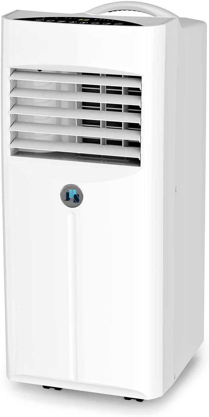 JHS 10,000 BTU Portable Air Conditioner, 3-in-1 Floor AC Unit with 2 Fan Speeds, Remote Control and Digital LED Display, Cover up to 300 Sq. Ft.