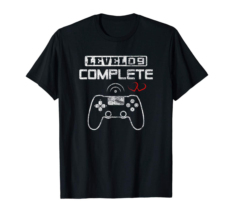 Level 9 Complete 9th Wedding Anniversary Nine Years Him Her T-Shirt