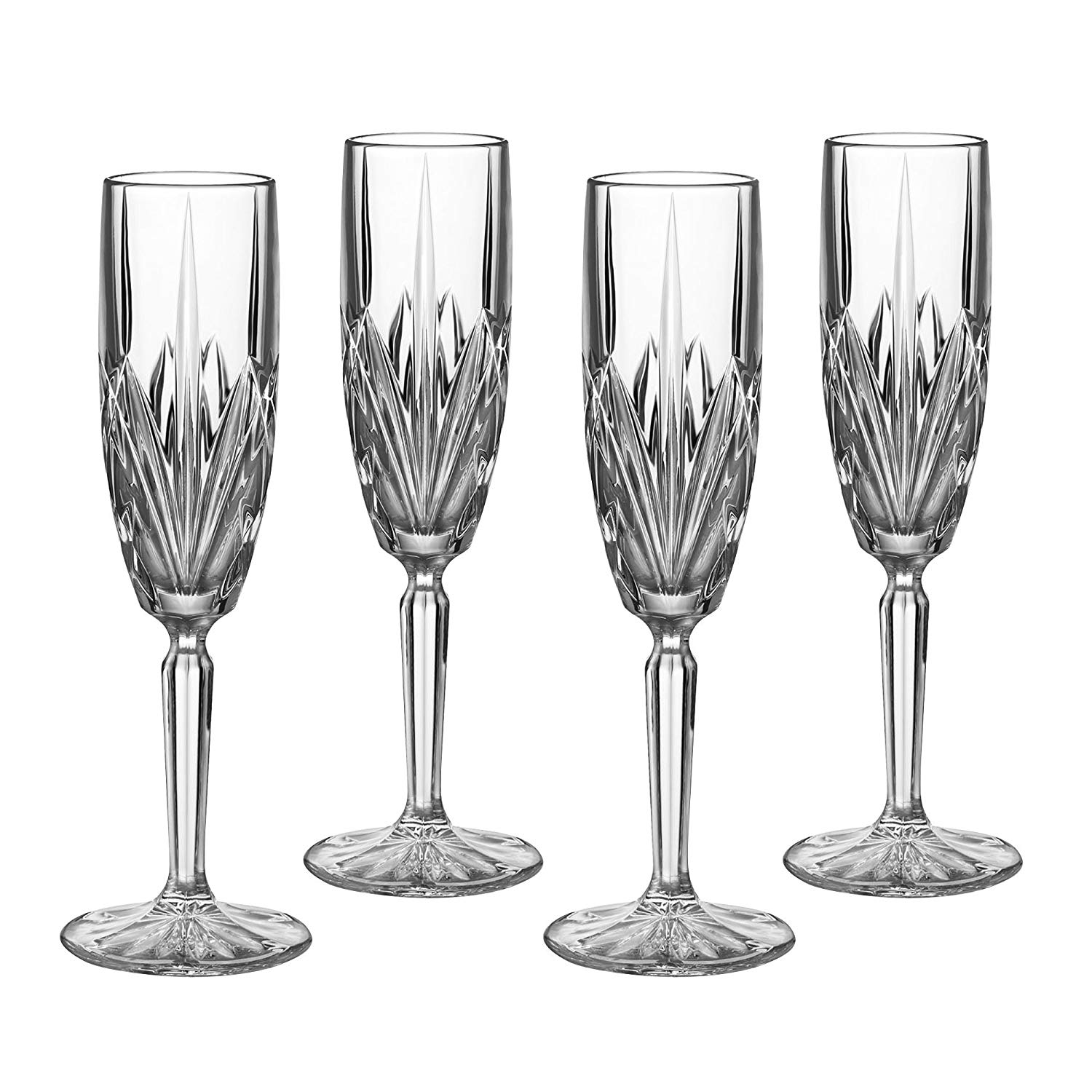 Marquis by Waterford Brookside 6-Ounce Champagne Flutes, Set of 4, FLUTE 6 OZ SET OF 4
