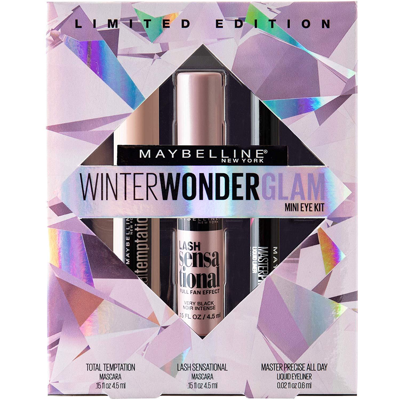Maybelline Winter Wonderglam Mini Eye Kit, Holiday Mascara Gift Set