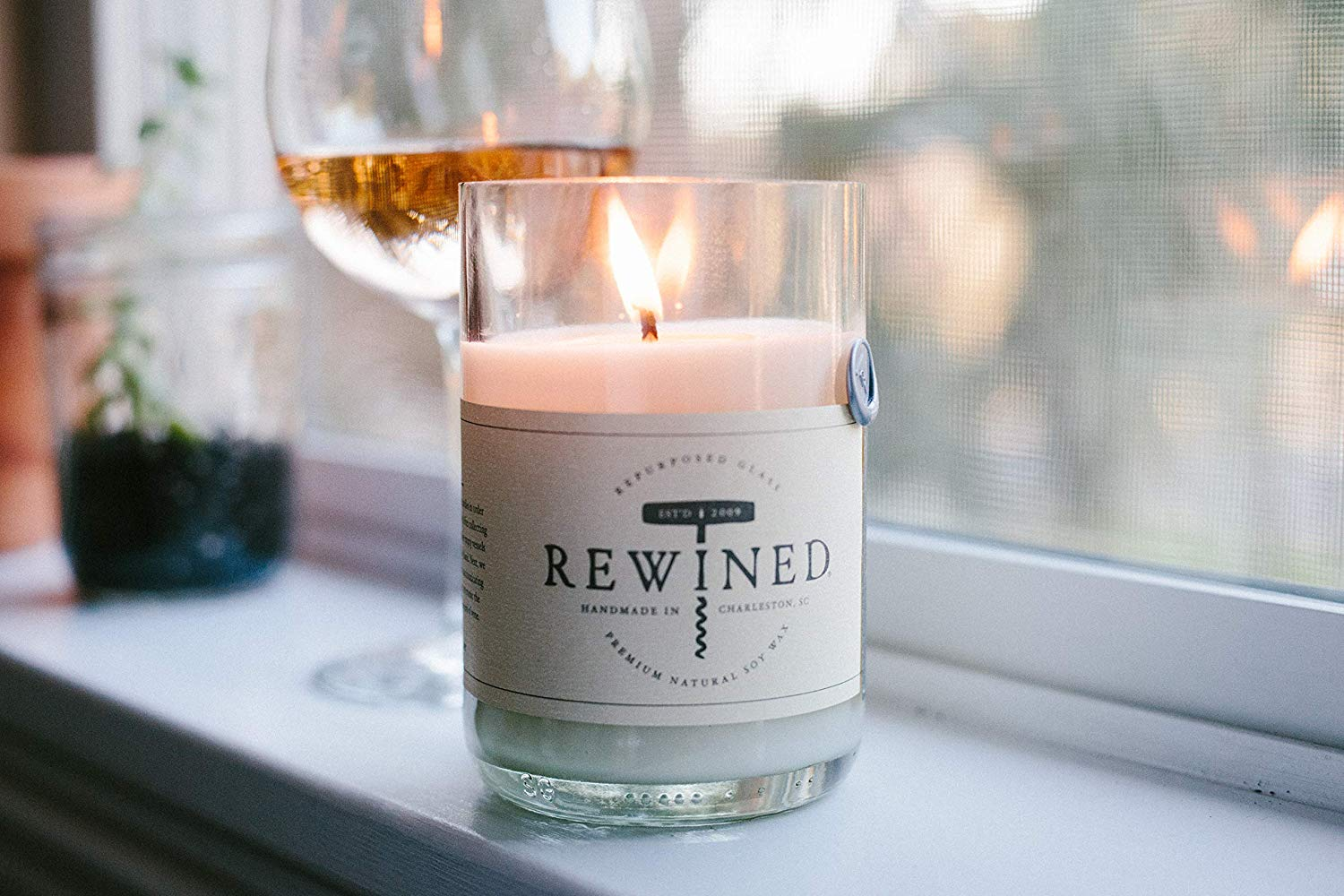 Rewined Rose Fragrance Soy Wax Scented Candle with Notes of Rose Petal, White Peach, Pink Peppercorn and Crisp Minerality