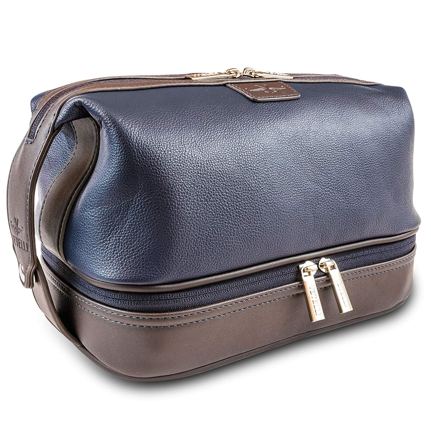 Vetelli Leo Mens Toiletry Bag and Dopp Kit - Lots of Pockets, Lots of Space with Large Compartments and a Durable Design Makes it Easy to Stay Organized When Travelling for Business or Pleasure.