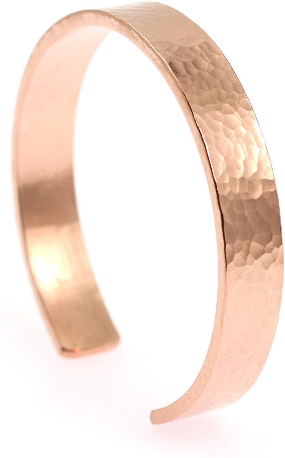 10mm Wide Hammered Copper Cuff Bracelet by John Brana Handmade Jewelry 100% Uncoated Solid Copper Cuff