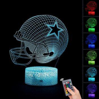 3D night light bedside lamp 7 colours