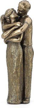 Soul mates Lovers Kissing Sculpture