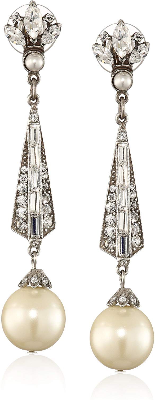 Ben-Amun Jewelry Crystal Deco Drop Earrings