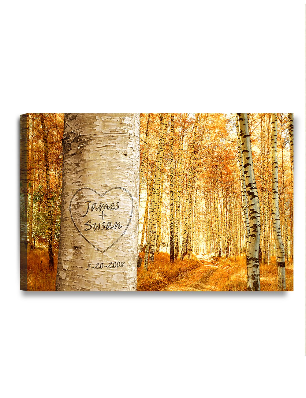 """DECORARTS - """"Love Grows - Personalized Canvas Prints Gift, Includes Names and The Special Date for Anniversary, Valentine's Day,Wedding. 18"""" x12"""""""