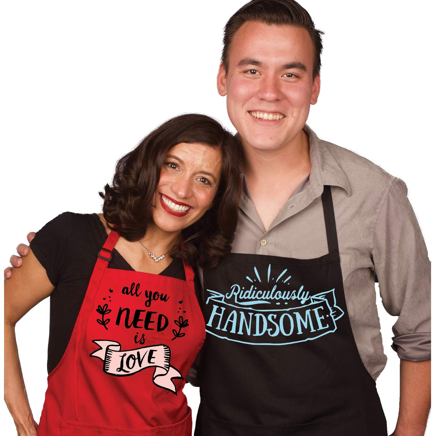 Mr Mrs Wedding Gifts for Funny Loving Couples | Perfect for Wedding Anniversary Gifts for couples | His and Her Aprons | Valentines Day
