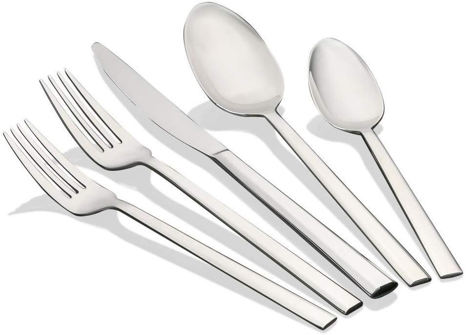 Saken Stainless Steel Flatware Set - Silverware Cutlery with Mirror Finish - 18/10 steel - 20 piece set Service for 4
