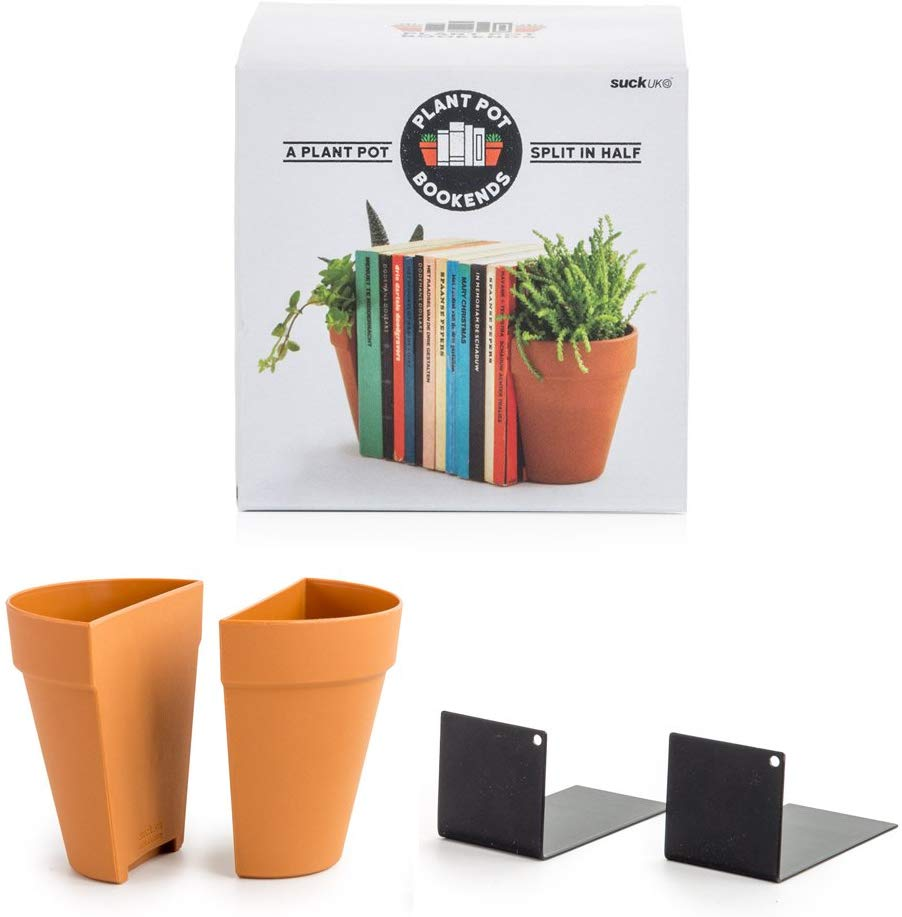 Suck UK Planter Bookends (Plastic)