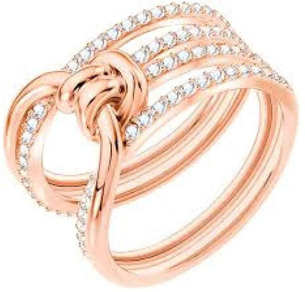 SWAROVSKI Crystal Lifelong Rose Gold-Tone Ring - Size 7