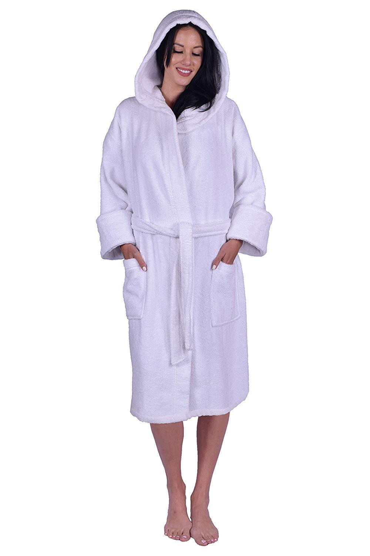 Turquoise Textile Hooded Unisex Terry Cotton, Microfiber, Sweatshirt Bathrobes