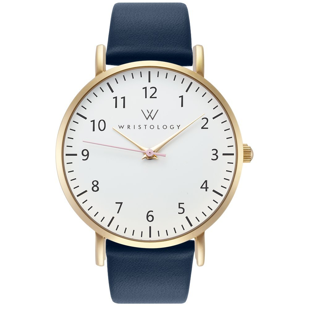 WRISTOLOGY Olivia - 5 Options - Womens Watch Numbers Gold Boyfriend Ladies Navy Blue Strap Band