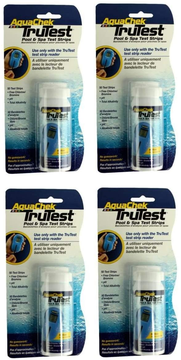 4) Aquachek 512082 TruTest Digital Reader Swimming Pool Spa Test Strips Refills