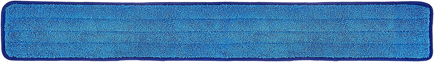 AmazonBasics Microfiber Damp Mop Cleaning Pad, Plain, 36 Inch, 12-Pack