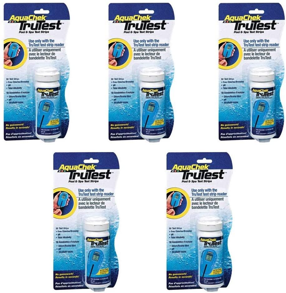 AquaChek 512138 TruTest Digital Reader Swimming Pool Spa Test Kit Strips Refill (5)