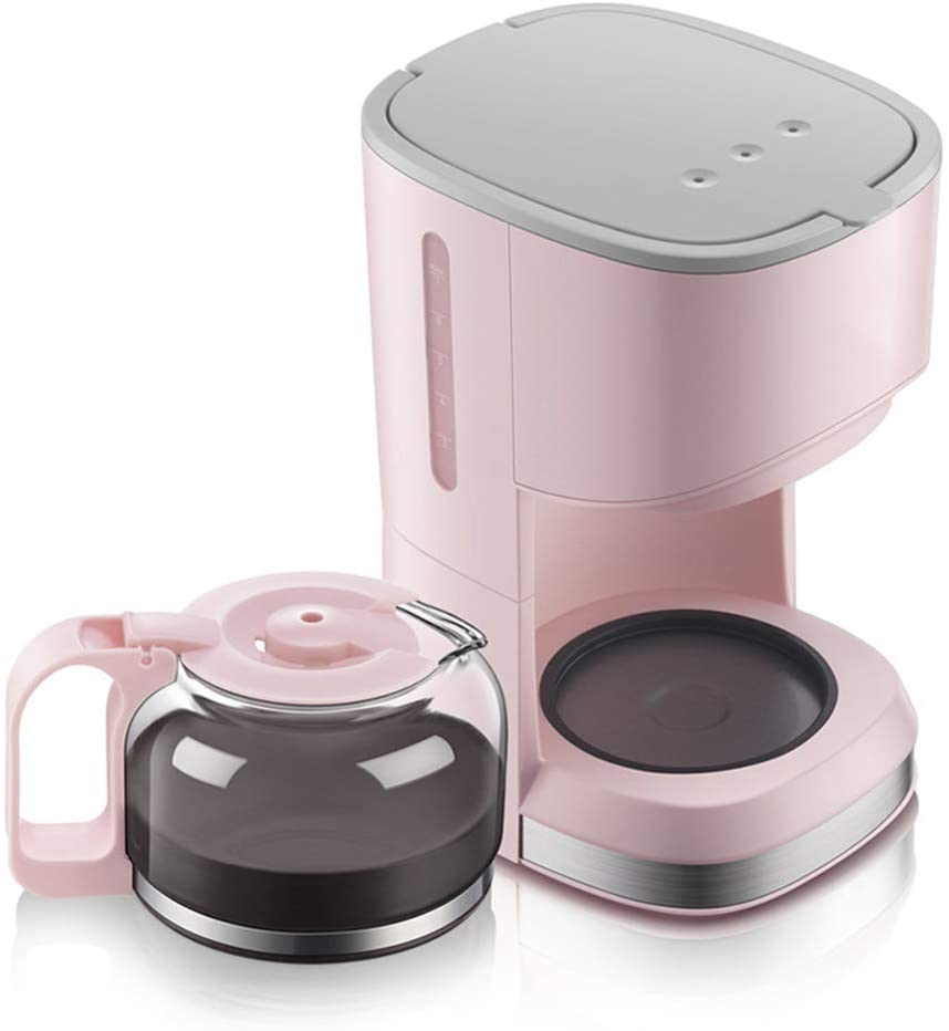 Encounter-K Mini Coffee Machine / 5 Cup/Coffee Maker/Pink American Drip Type Home Coffee Maker 0.7 L Insulation Glass Coffee Maker