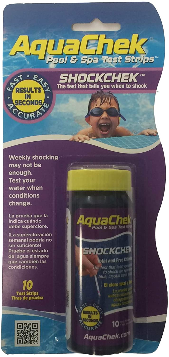 Hach Company Aqua Check Shock Swimming Pool Test Strips - 10 Count
