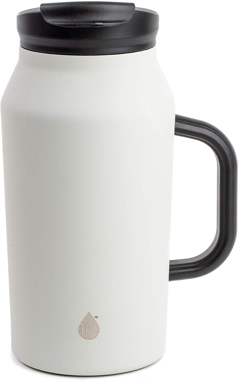 TAL 40 Ounce Double Wall Vacuum Insulated Stainless Steel Basin Bottle with Handle