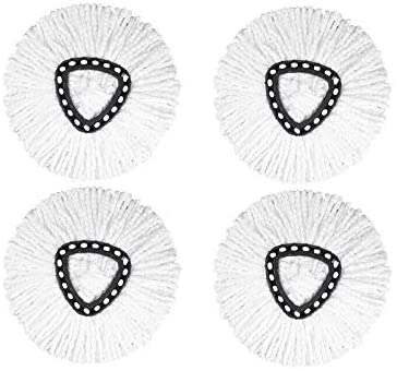 Ximoon 4 Pack-Microfiber Spin Mop Head Refill Replacements for Easy Wring Mop Pads