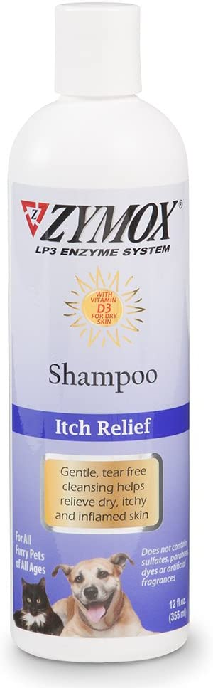 ZYMOX Pet LP3 Enzyme shampoo Itchy Inflamed Skin with vitamin D3 Dog & Cat 12oz