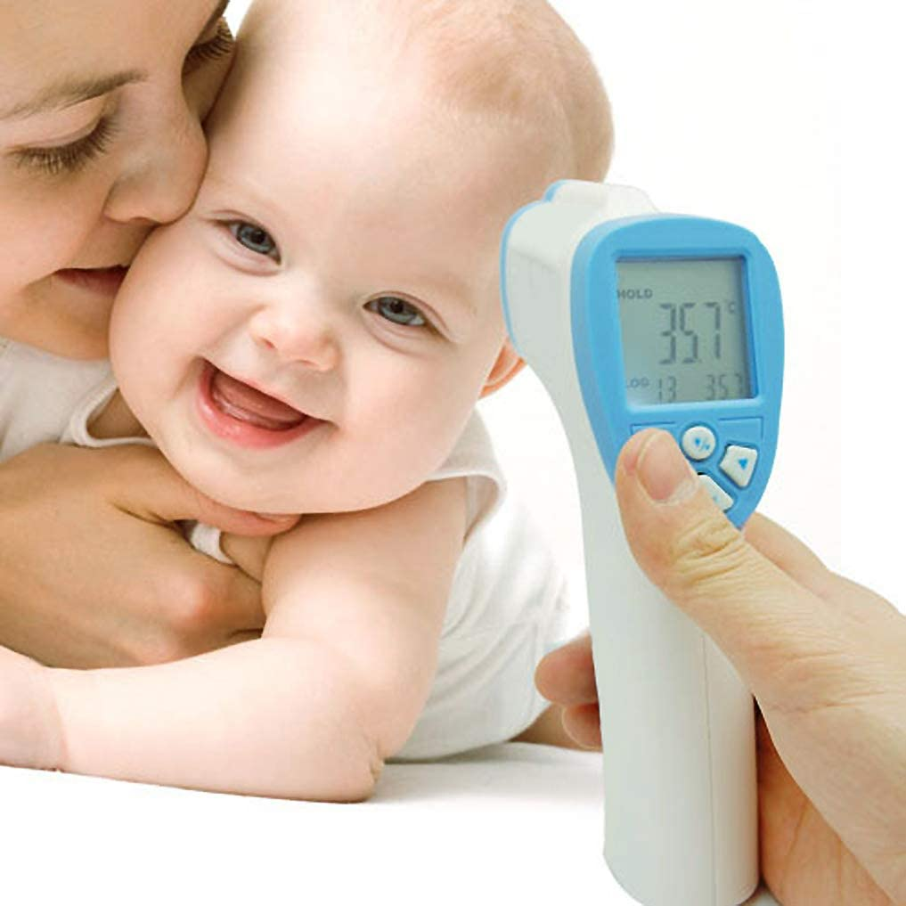 ADASP Digital Infrared Baby Thermometer, Non-Contact Forehead Gun, Ear and Forehead Thermometer, °C / °F Select Switch, No Touch Instant Results Forehead Thermometer for Baby, Kids and Adults