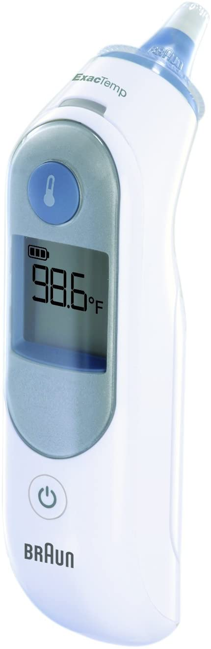 Braun Digital Ear Thermometer, ThermoScan 5 IRT6500, Ear Thermometer for Babies, Kids, Toddlers and Adults, Display is Digital and Accurate, Thermometer for Precise Fever Tracking at Home