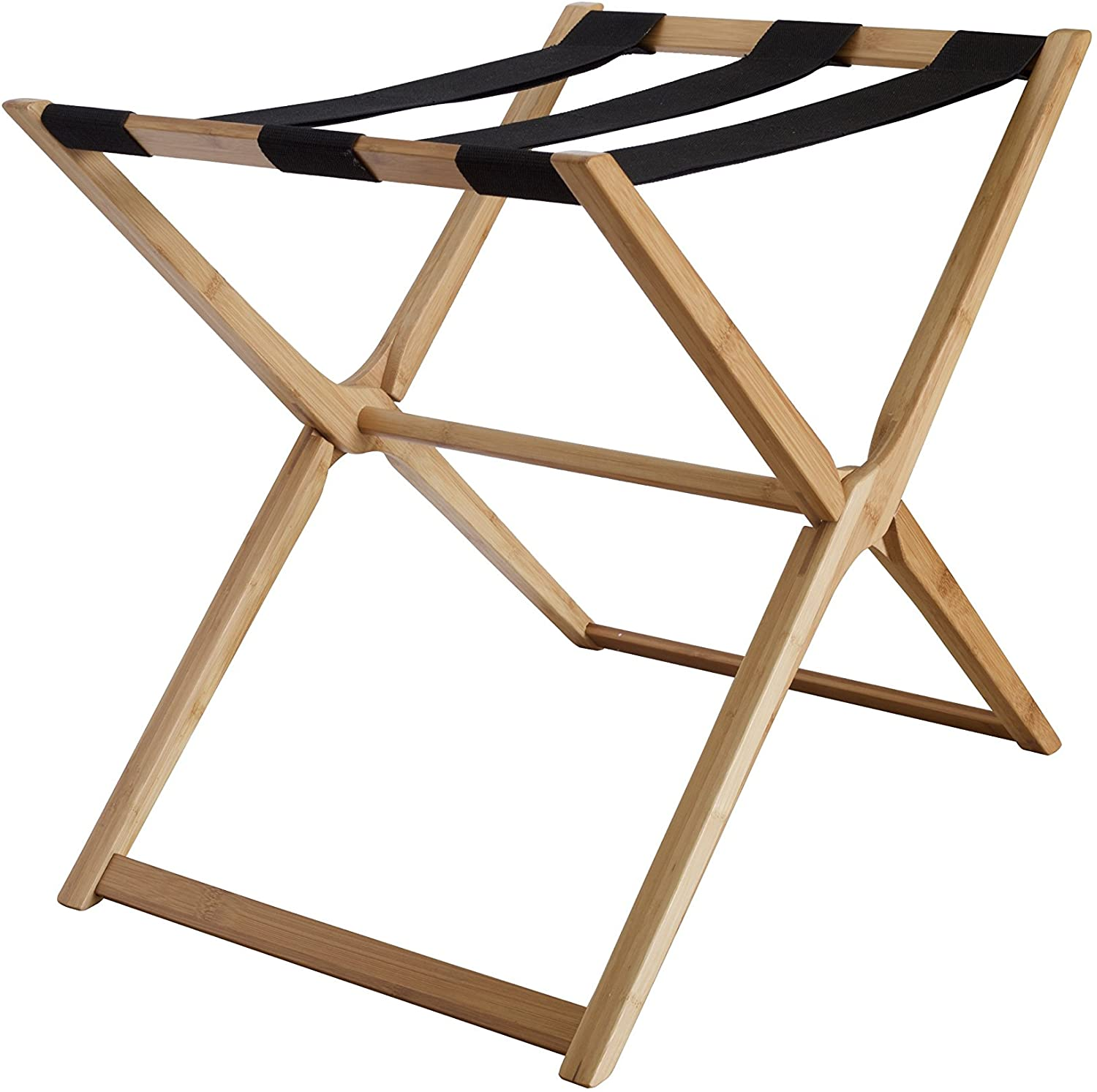 In This Space Modern Bamboo Luggage Rack